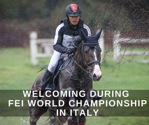 Welcoming during the World Championship of Eventing and Combined Driving in Italy!